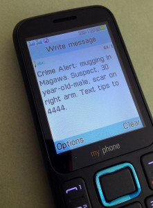 Crime Alert SMS