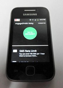 engageSPARK Android SMS Relay App