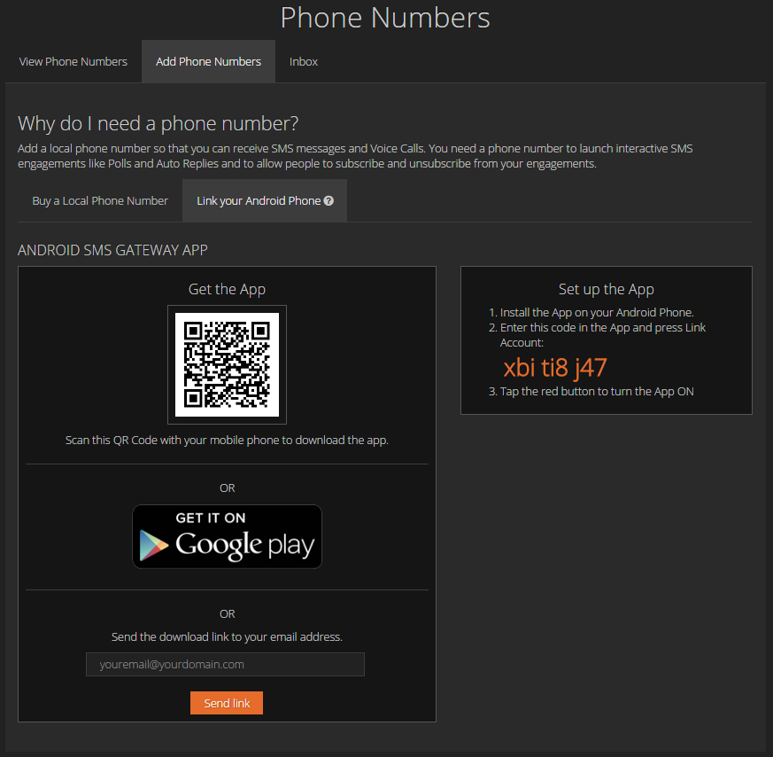 Support / What is the Android SMS Relay App? - Send and Receive