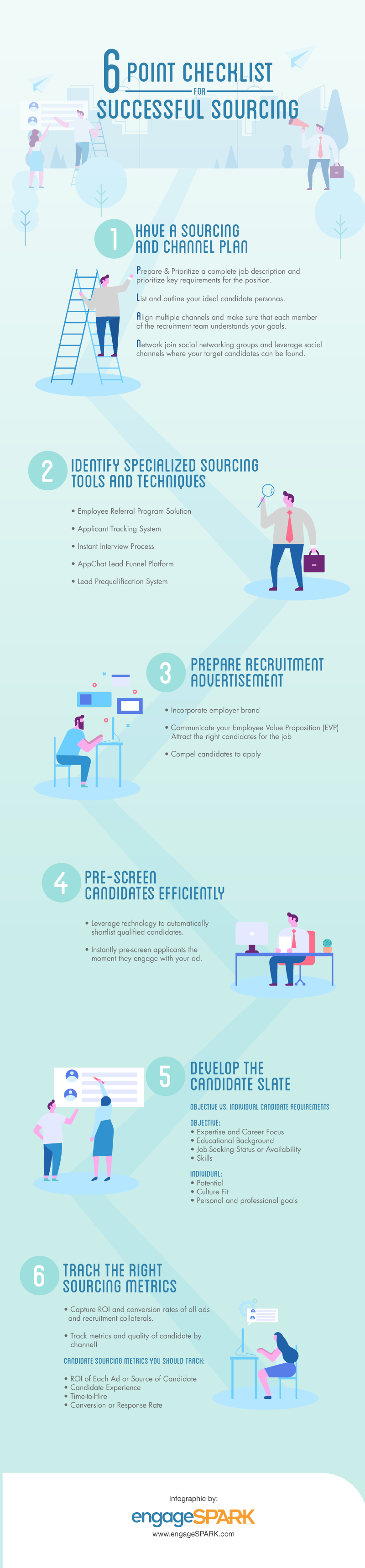 6 point checklist for successful sourcing with infographic send