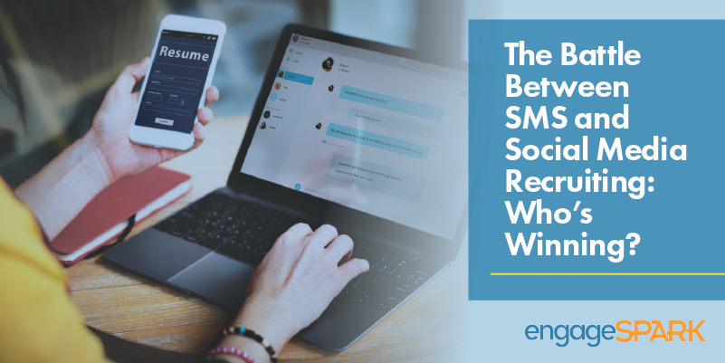 The Battle Between SMS and Social Media Recruiting: Who's Winning?